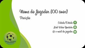 CARTÃO DE VISITA DO JOGADOR